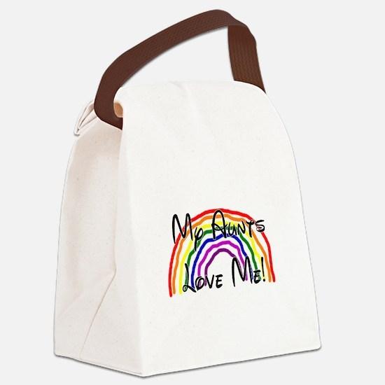 My Aunts Love Me Canvas Lunch Bag