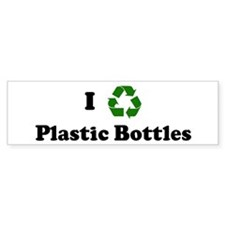 I recycle Plastic Bottles Bumper Car Sticker