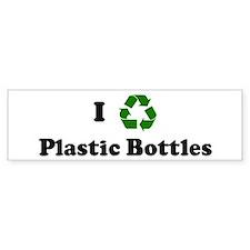 I recycle Plastic Bottles Bumper Car Sticker