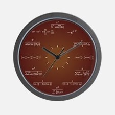 Math Clock (Dark Red) Wall Clock