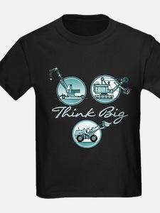 Think Big Construction Vehicles T-Shirt