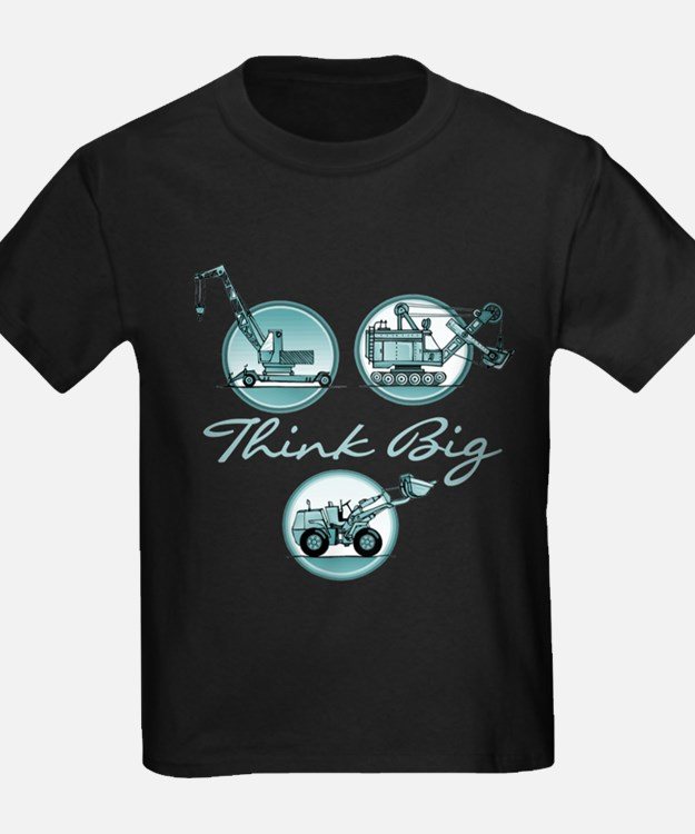 Think Big Construction Vehicles T-Shirt