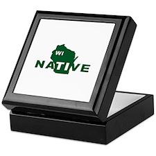 Wisconsin Native - Green Keepsake Box