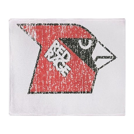 Red Rage Faded Throw Blanket