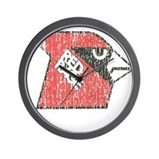 Red Rage Faded Wall Clock