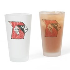 Red Rage Faded Drinking Glass