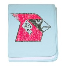 Red Rage Faded baby blanket