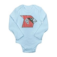 Red Rage Faded Long Sleeve Infant Bodysuit