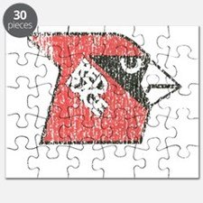Red Rage Faded Puzzle