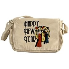 Retro Happy New Year Messenger Bag