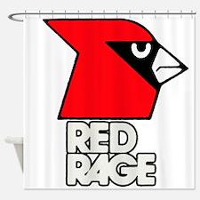 Red Rage Shower Curtain