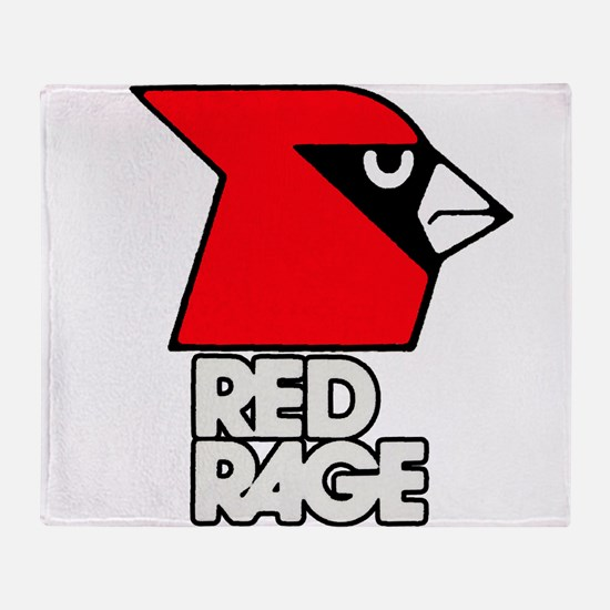 Red Rage Throw Blanket