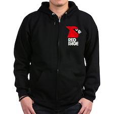 Red Rage Zip Hoodie