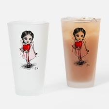 Malicious Valentine Girl Drinking Glass
