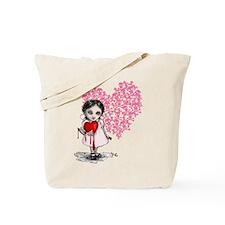 Malicious Valentine Girl Skull Heart Tote Bag