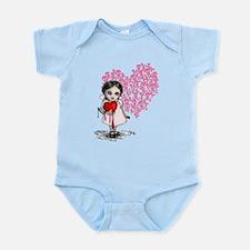 Malicious Valentine Girl Skull Heart Infant Bodysu