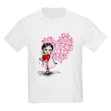 Malicious Valentine Girl Skull Heart T-Shirt