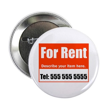 """For Rent 2.25"""" Button (100 pack)"""