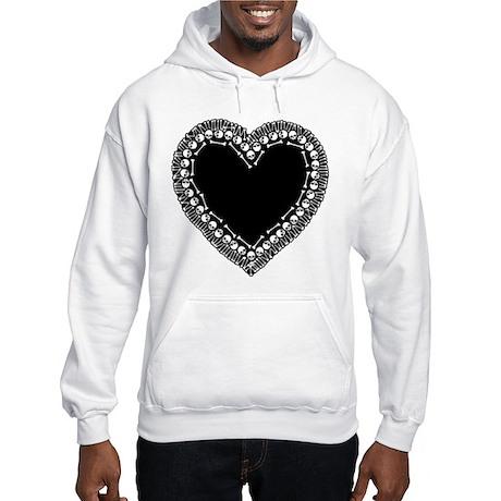Pretty Skull Heart Hooded Sweatshirt
