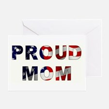 PROUD MOM Greeting Card