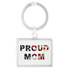 PROUD MOM Landscape Keychain