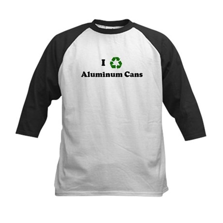 I recycle Aluminum Cans Kids Baseball Jersey
