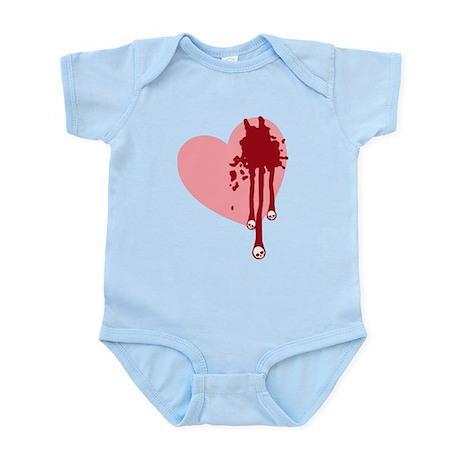 Skull Drips Heart Infant Bodysuit