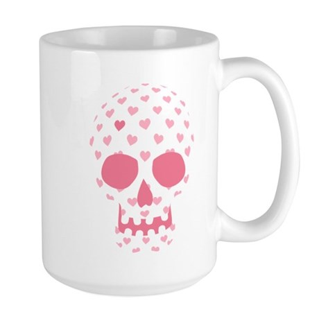 Heart Patterned Skull Large Mug