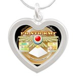 PrNtrKmt Silver Heart Necklace