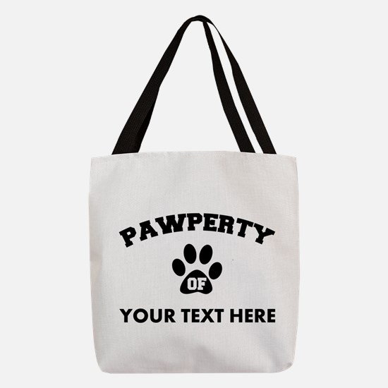 Personalized Dog Pawperty Polyester Tote Bag