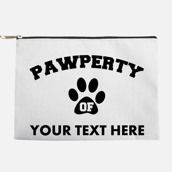 Personalized Dog Pawperty Makeup Pouch