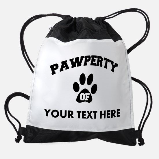 Personalized Dog Pawperty Drawstring Bag