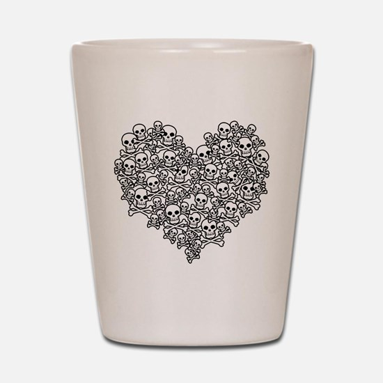 Skull Heart Shot Glass