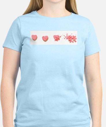 Smashed Candy Hearts T-Shirt
