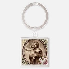 Mother and Child Square Keychain