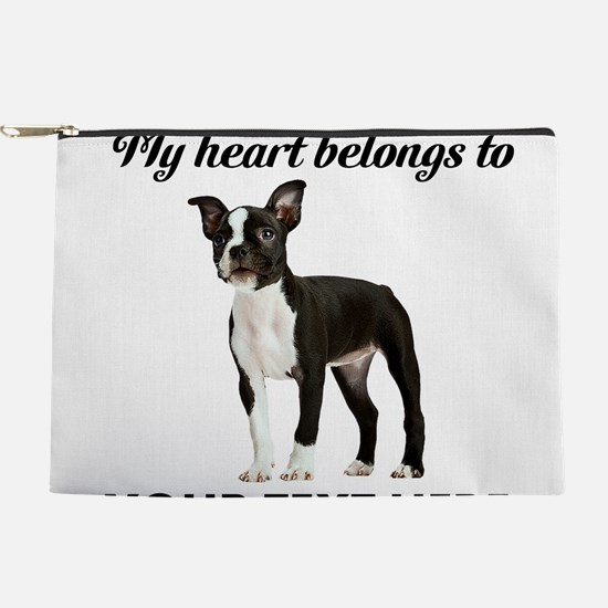 Personalized Boston Terrier Makeup Pouch