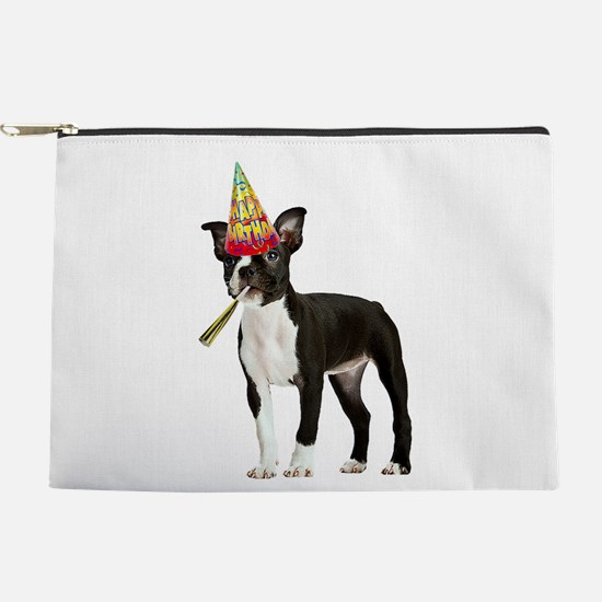 Boston Terrier Birthday Makeup Pouch