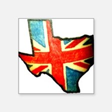 "BRIT IN TX Square Sticker 3"" x 3"""