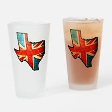 BRIT IN TX Drinking Glass