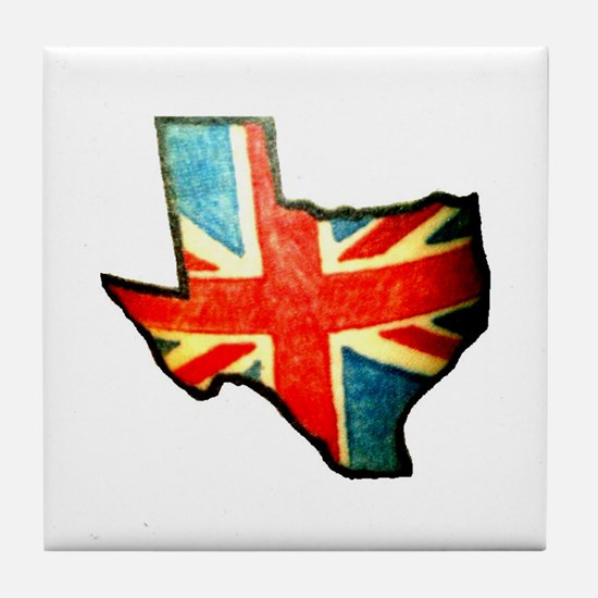 BRIT IN TX Tile Coaster