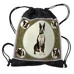 Boston Terrier Collage Drawstring Bag