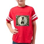 Boston Terrier Collage Youth Football Shirt