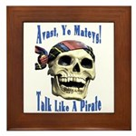 Talk Like A Pirate Day Framed Tile