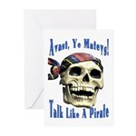 Talk Like A Pirate Day Greeting Cards (Package of