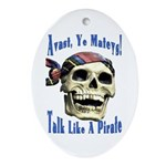 Talk Like A Pirate Day Oval Ornament