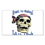 Talk Like A Pirate Day Rectangle Sticker