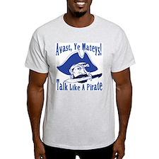 Talk Like A Pirate Ash Grey T-Shirt