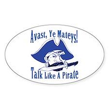 Talk Like A Pirate Oval Decal