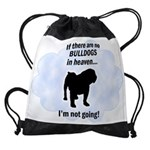 FIN-bulldogs-in-heaven.png Drawstring Bag
