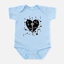 Heart And Keys Infant Bodysuit
